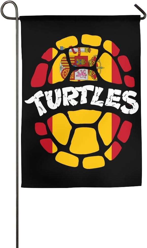 JJKKFG-H - Bandera de España con diseño de Tortuga: Amazon.es: Jardín