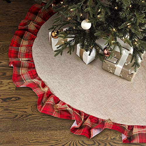 Best christmas tree skirt burlap and red list