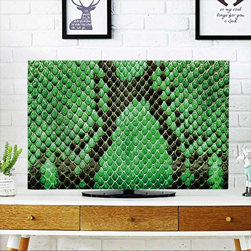 """PRUNUS Protect Your TV Green Python Leather,Skin Texture for Background Protect Your TV W25 x H45 INCH/TV 47""""-50"""""""