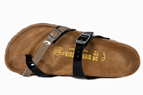 BIRKENSTOCK 371411 MAYARI ciabatta sandalo scarpa donna nero pianta larga  (normal fit) bb8e2bfa357
