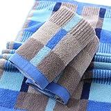 MAZIMARK Luxury Towel 100% Cotton Large Check Hand Bath Bathroom Towel Remarkable