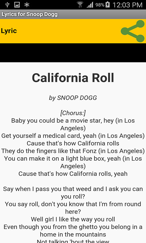 Lyrics For Snoop Dogg Amazon Com Appstore For Android