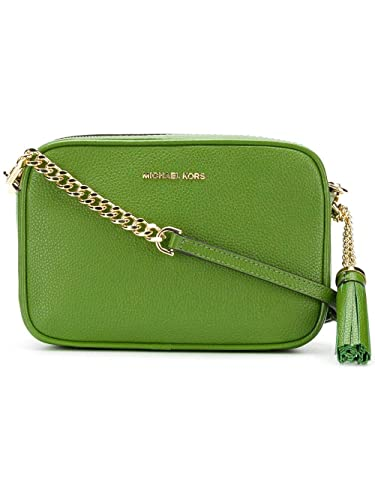 86fde1606d7e Michael Kors Ginny Medium Leather Camera Crossbody Bag - True Green:  Handbags: Amazon.com
