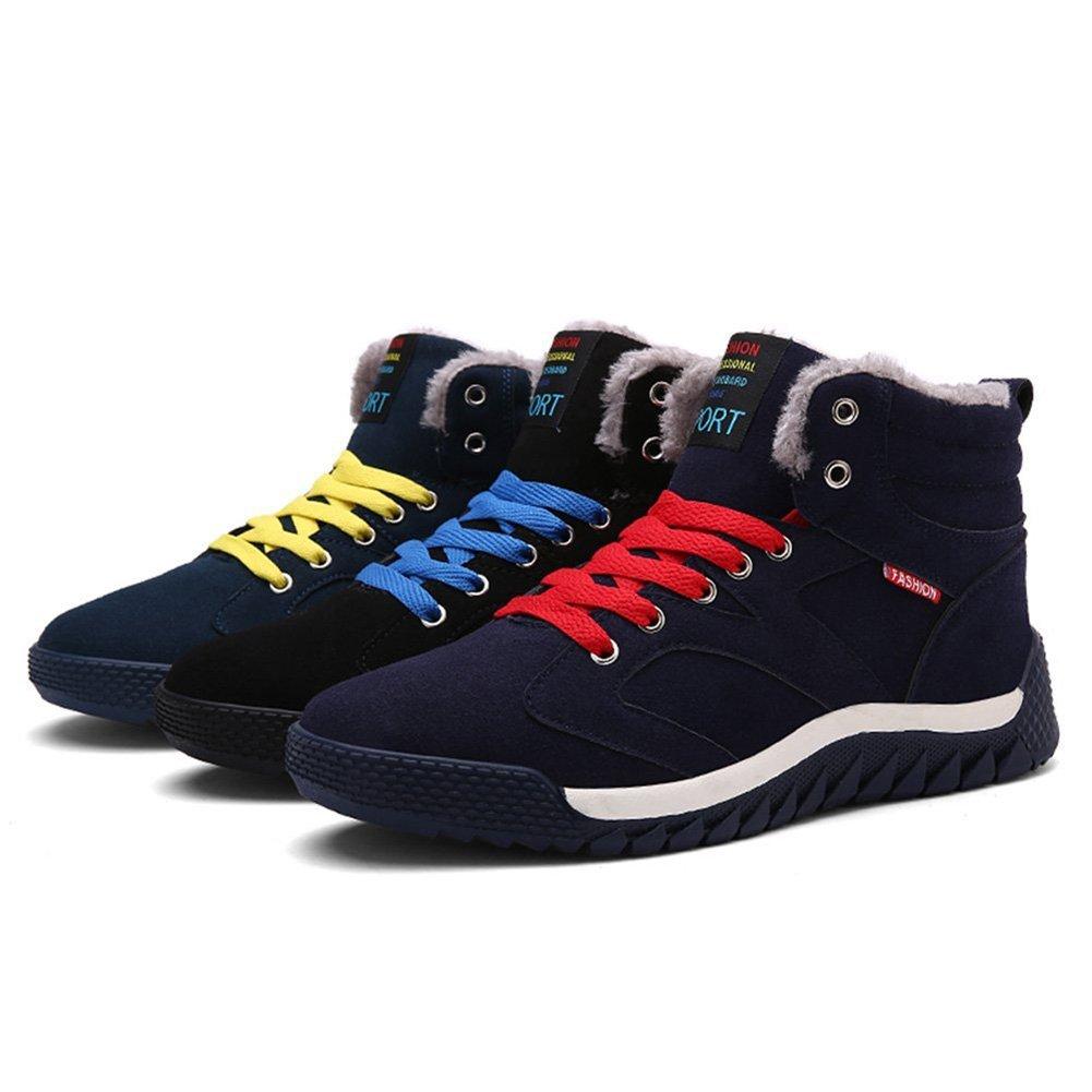Hombre Zapatos de Ante con Cordones Forradas Botas Altas Suave C/ómodo Caliente Zapatillas Calzado Deportivo Zapatillas de Nieve Azul Oscuro Verde Negro 39-44