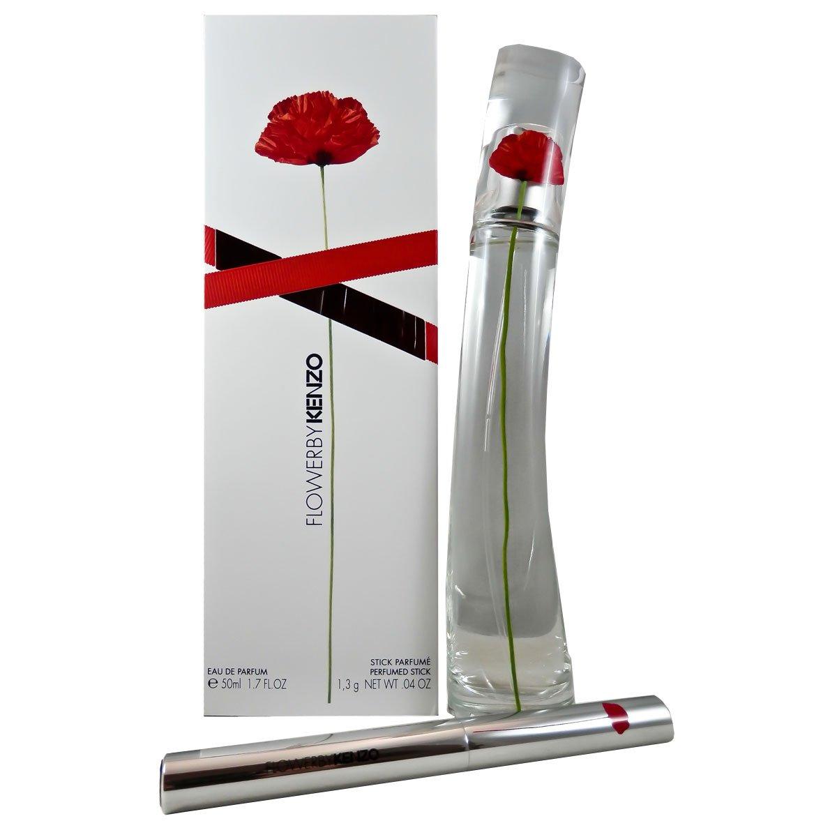 Kenzo Flower Femme/Woman Set (Eau de Parfum, 50ML + PROFUMO Stiff 1.3G), 1er Pack 3274872337442