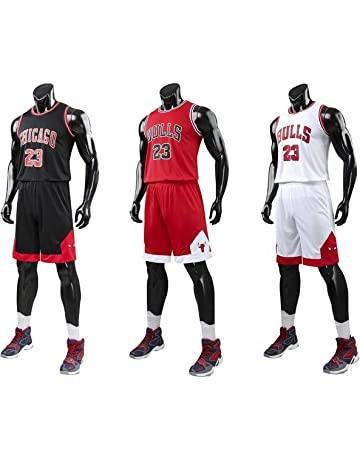 fa341606d5e Kid Boy Mens NBA Michael Jordan #23 Chicago Bulls RETRO Basketball shorts  Summer Jerseys Basketball