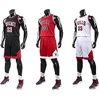 unbrand Enfant garçon NBA Michael Jordan # 23 Chicago Bulls Short de Basket-Ball Retro Maillots d'été Uniforme de Basket-Ball Top & Shorts
