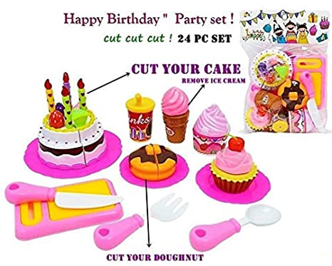 TEMSON DIY Fruit Cake Ideal For Preschoolers A Whole Party Set With Velcro Fastened