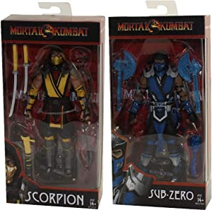 McFarlane Toys Mortal Kombat XI: Scorpion and Sub-Zero 7 Inch Action Figure Set