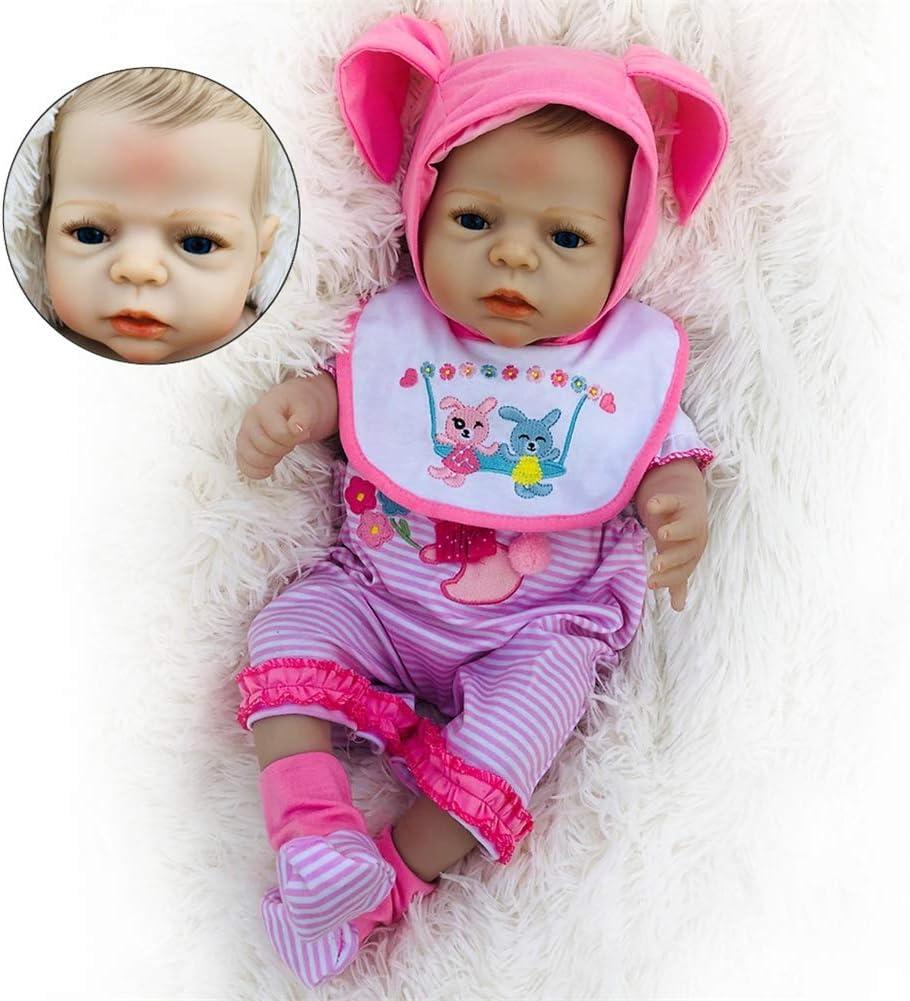 55 cm 22 Inch del Oso de la Bebé Reborn Niña con Chupete Cuerpo Entero Silicona Muñecas Vinilo Recien Nacido Baby Dolls Juguetes Bañera Gift