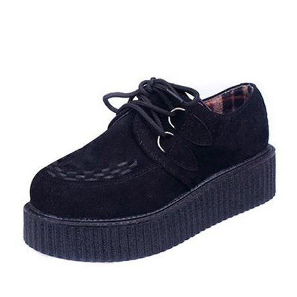 Dear Time Fashion String Rope Women Platform Shoes Black 39