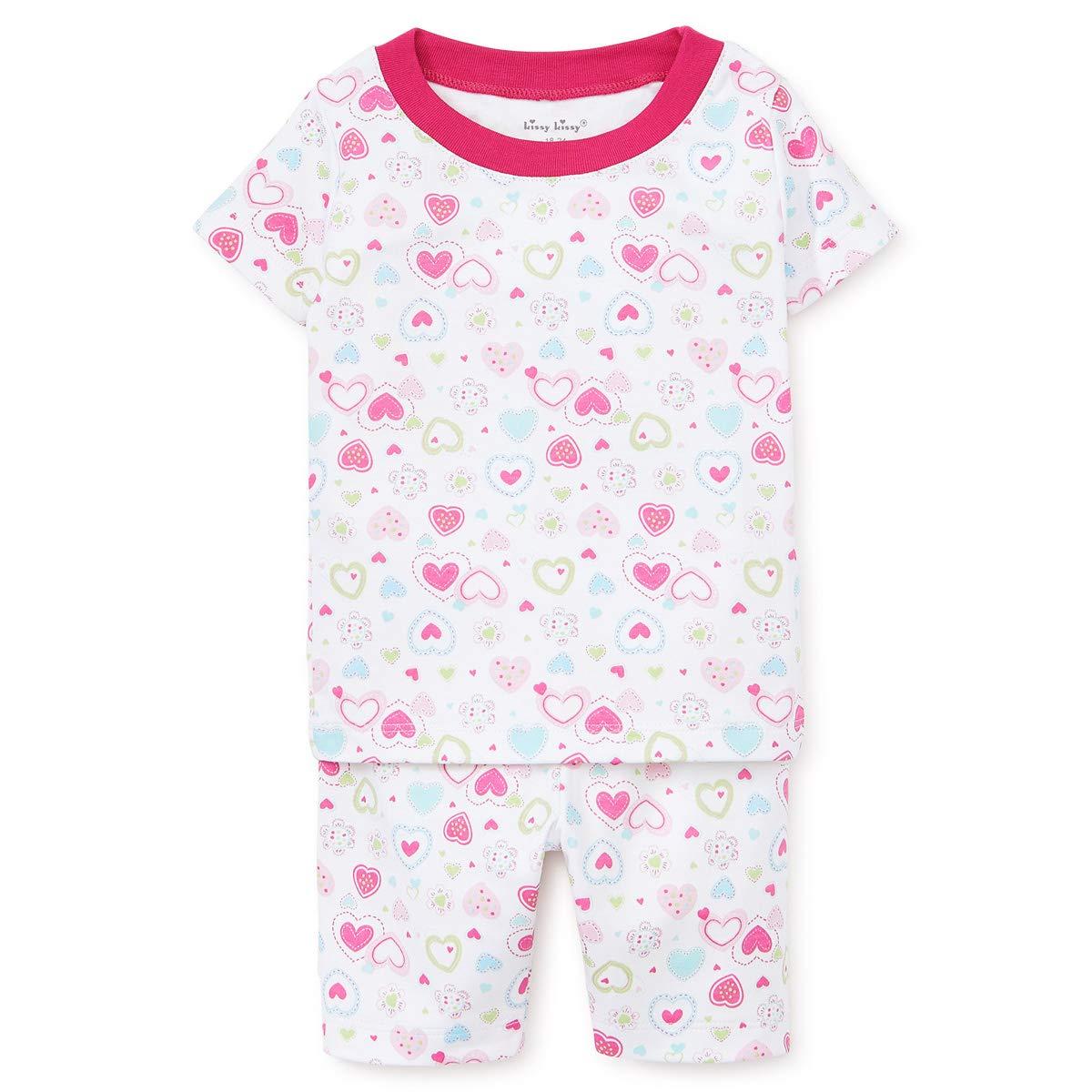 Kissy Kissy Girls Pajamas Happy Hearts Short PJ Set