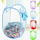 Zomaark Laundry Basket, Bag for storage of Clothes, Toys Stander Size (Random Color) (Standard)