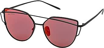 Sky Vision Cat Eye Sunglasses for Unisex, Red Lens, F8422