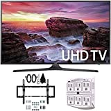 Samsung UN40MU6290 6-Series Flat 39.9 LED 4K UHD Smart TV w/ Wall Mount Bundle includes TV, Flat & Tilt Wall Mount Kit Ultimate Bundle, and SurgePro 6 NT 750 Joule 6-Outlet Surge Adapter