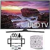 Samsung UN40MU6290 6-Series Flat 39.9' LED 4K UHD Smart TV w/ Wall Mount Bundle includes TV, Flat & Tilt Wall Mount Kit Ultimate Bundle, and SurgePro 6 NT 750 Joule 6-Outlet Surge Adapter