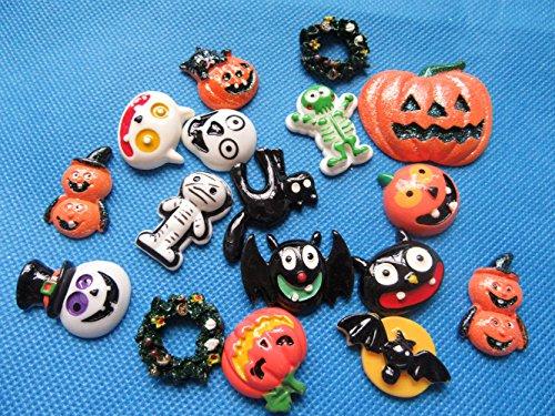 (YYCRAFT Pack Of Random 30pcs Resin Flatback Scrapbooking Halloween Spider Skull)