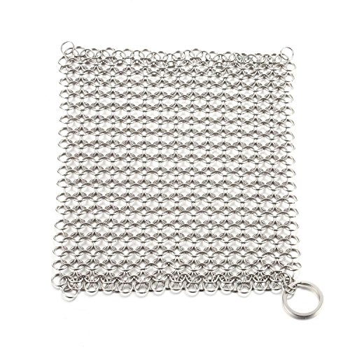 Cast Iron Cleaner Wire Mesh Stainless Steel Durable for Grid