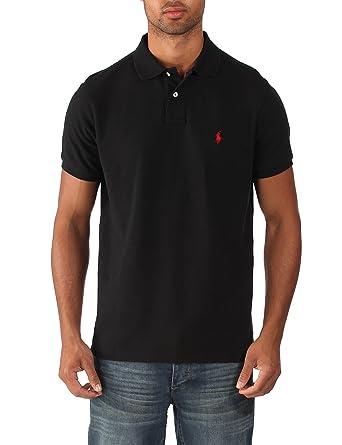 Ralph Lauren - Polo para hombre - Custom fit - Negro - Talla XXL ...