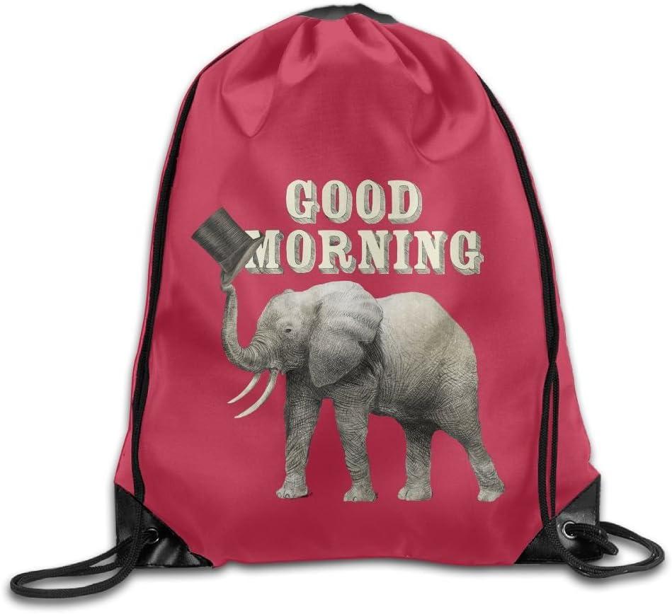 Elephant Drawstring Backpack Rucksack Shoulder Bags Training Gym Sack For Man And Women