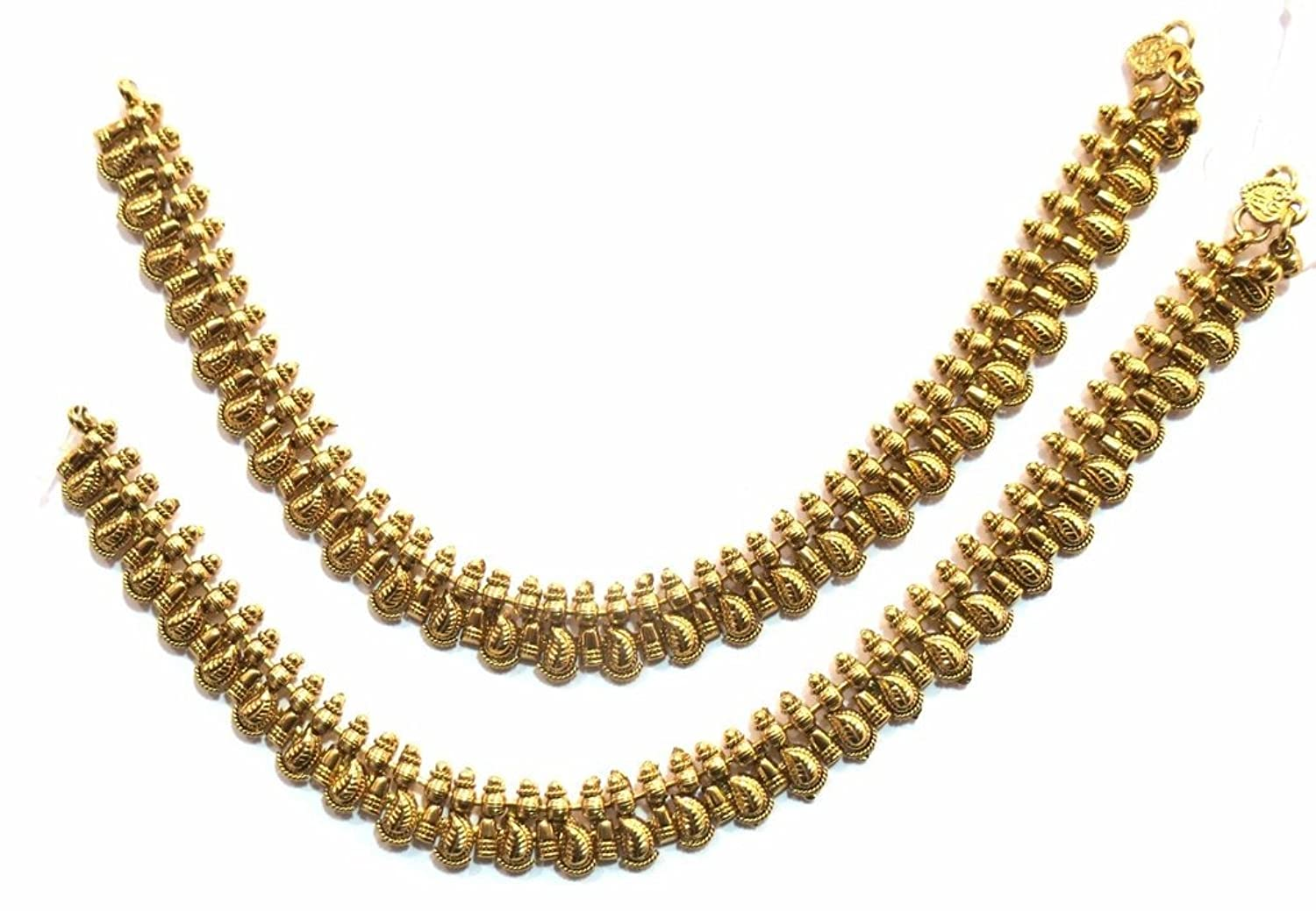 Shingar Jewelry Ksvk Jewels Antique Gold Plated Payal / Pajeb / Anklet For Women (9723-payal-antique)