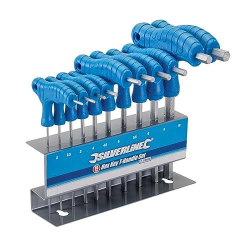 Silverline 323710 Hex Key T-Handle Set 2-10 mm - 10 Pieces