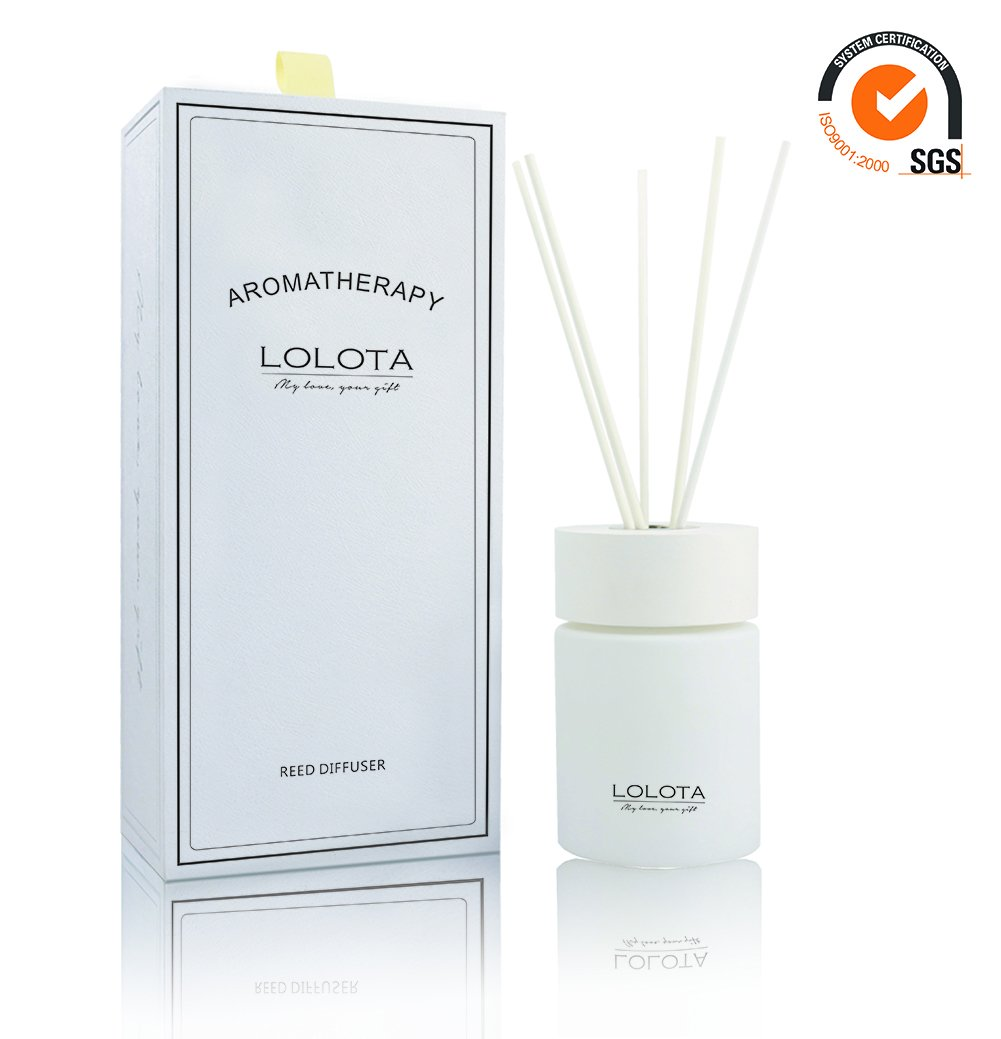 LALATA Long Lasting Reed Diffuser Aromatherapy Gift Set,Natural Scent Non-Toxic Home Spa Fragrance Diffuser,Air freshener,Perfect for Bedroom,Bathroom,Office(Wonderful White Jasmine & Lily)