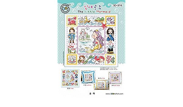 Cross stitch pattern leaflet Mermaid Sisters Big chart SODAstitch SO-G102