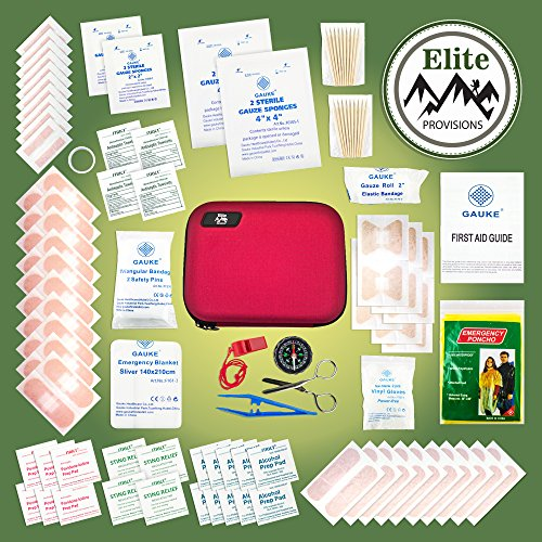 Small First Aid Kit (131 Pieces) Compact & Lightweight for Hikers & Backpackers. Portable First Aid Emergency & Survival Gear for Car, Home, Boat, Travel, RV, Cycling, Backpacking & Camping Essentials