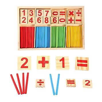amazon com math toy acogedor digital wooden number cards