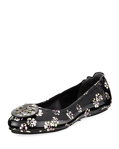624535f05 Tory Burch Women's Minnie Patent Leather Travel Ballet Flats (10 M ...