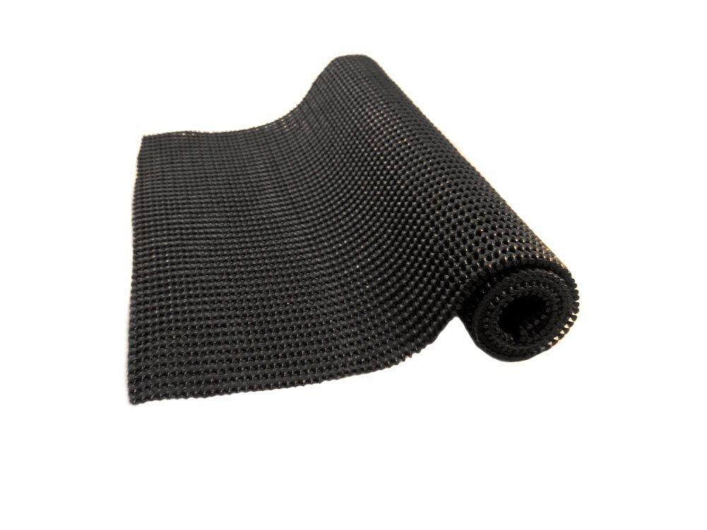 "Anti-Slip Mat under rug grip Non Skid - Shelf and Drawer Liner 12"" x 36"" - trim to fit (Black)"