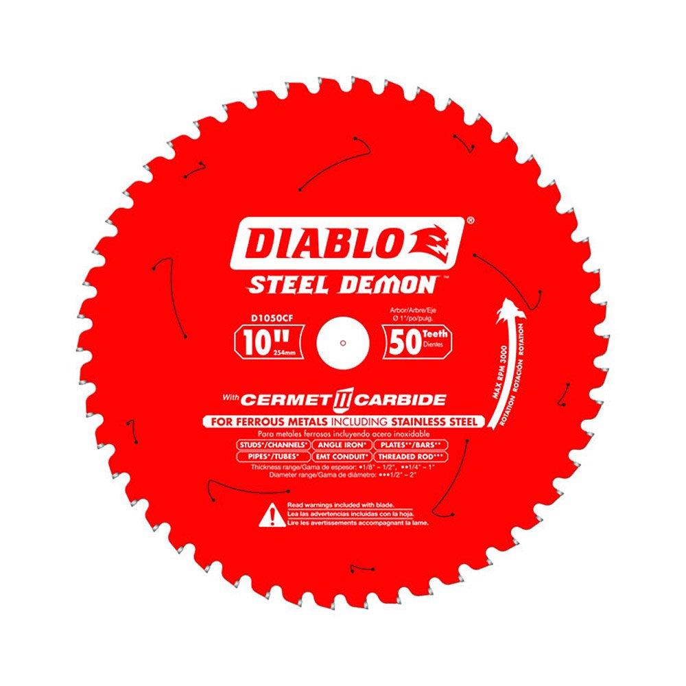 Hoja Sierra Diablo Por Freud D1050cf Ø254mm - 50 Dientes - Eje 25mm Para Metales
