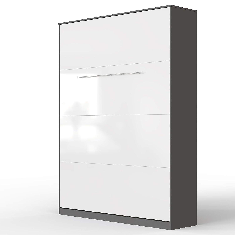 Descuento del 70% barato Antracita blancoo Brillante 140 x 200 cm verdeical verdeical verdeical SMARTBett Standard Cama abatible Cama Plegable Cama de Parojo (Antracita blancoo Brillante, 90 x 200 cm verdeical)  autentico en linea