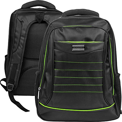 VanGoddy Universal Multiple Design Backpack Bag with Padded Sleeve & Hand strap for Apple Macbook Pro/Air 15.4 13.3 Inch with Retina Display OS X Laptop (Black Green) by SumacLife