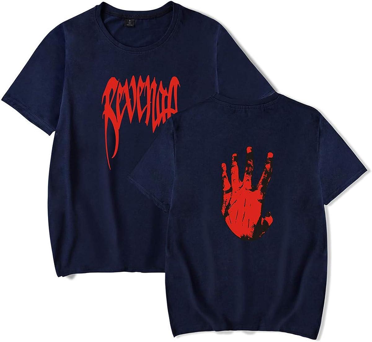Faith Wing Populaire Unisexe Xxxtentacion Revenge T-Shirt D/ét/é /À Manches Courtes T-Shirts Imprimer Lettre Col Rond L/âche Top Tops pour Homme et Femme