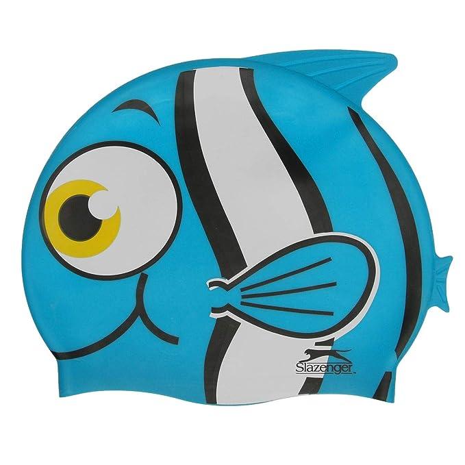Slazenger Bimbo Cuffia da bagno Silicone Blu Fish  Amazon.it  Abbigliamento b5beb1a3f54f