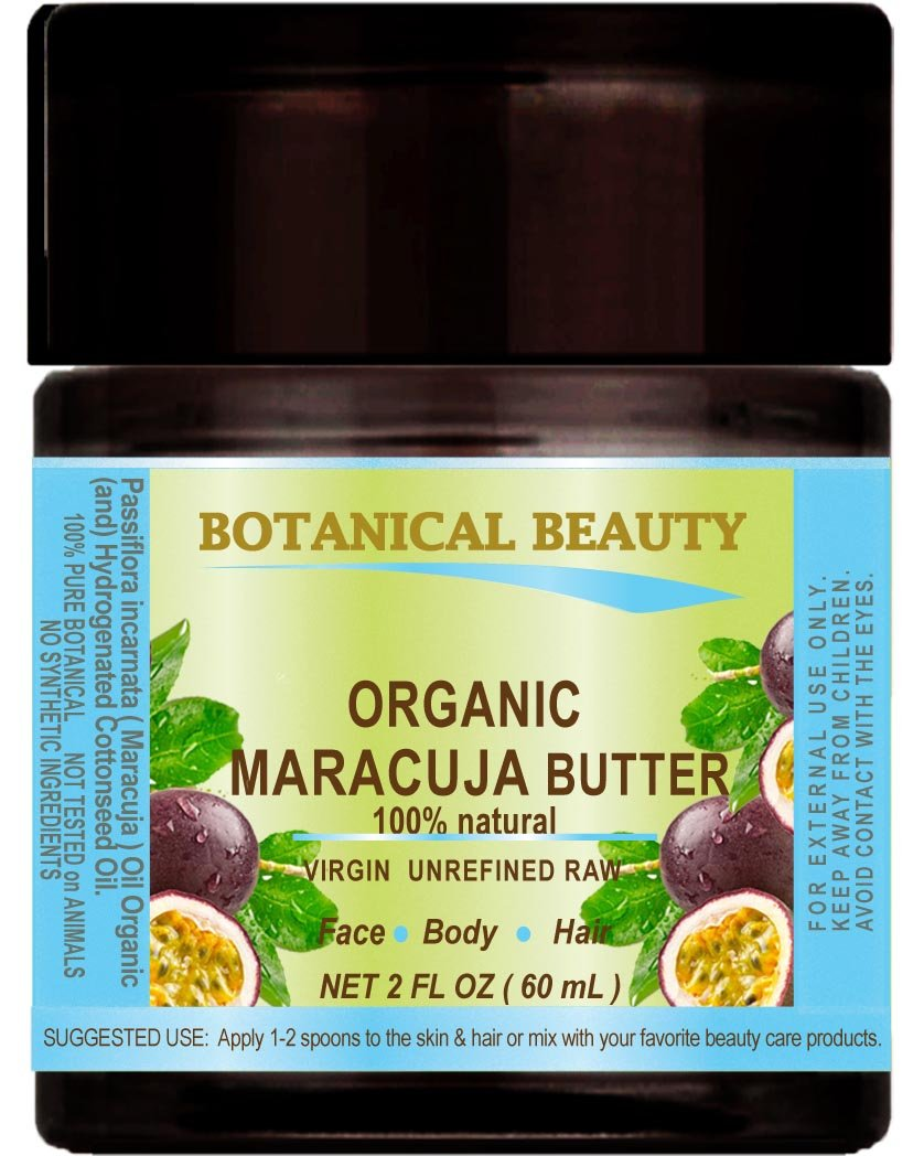 MARACUJA OIL BUTTER ORGANIC 100 % Natural / VIRGIN UNREFINED RAW / 100% PURE BOTANICALS. 2 Fl.oz.- 60 ml. For Skin, Hair and Nail Care.