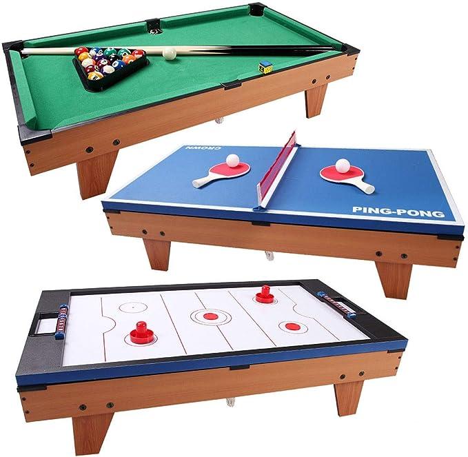 Apontus 3 en 1 Mesa de Air Hockey Ping Pong Multifuncional de Billar: Amazon.es: Deportes y aire libre