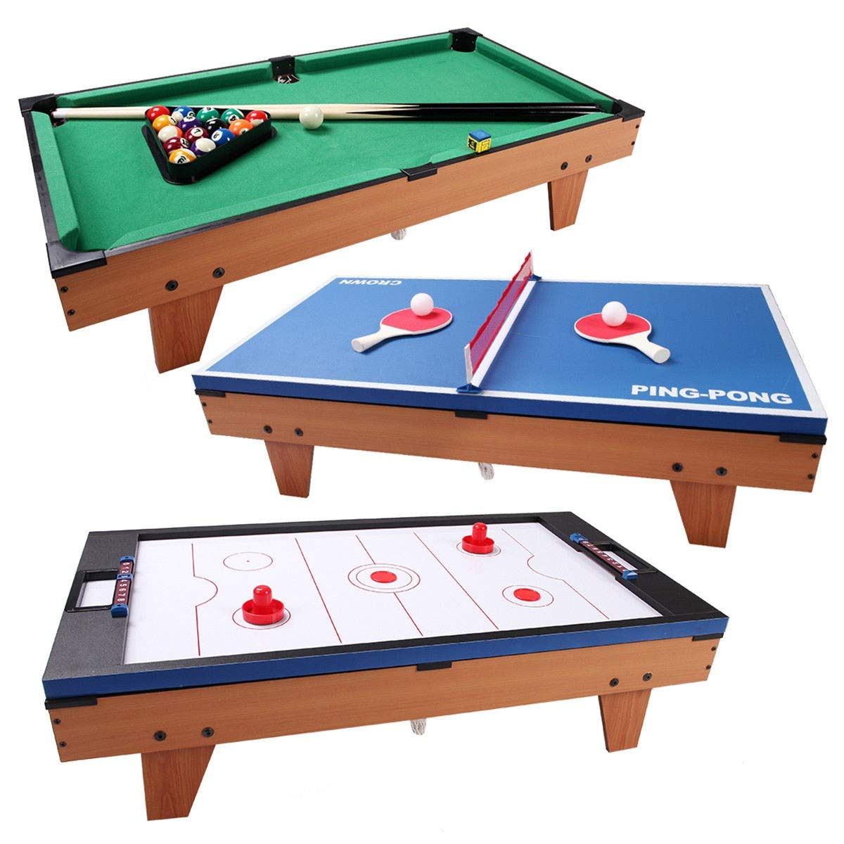 3 in 1 Air Hockey Ping Pong Billiard Multifunctional Table by X-Treat