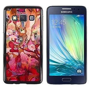 Paccase / SLIM PC / Aliminium Casa Carcasa Funda Case Cover para - Pink Floral Tree Spring Easter - Samsung Galaxy A3 SM-A300