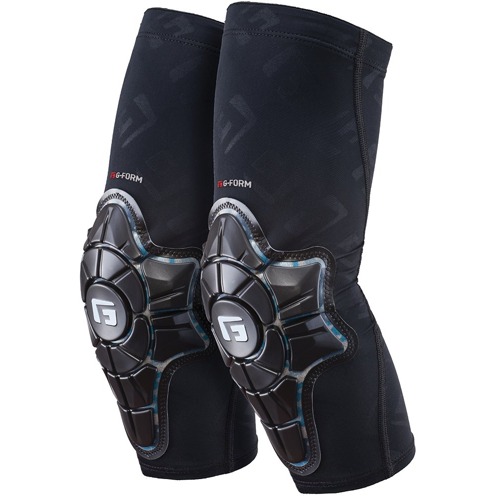 G-Form Pro-X Elbow Pads(1 Pair), Black/Teal Camo, Adult X-Large