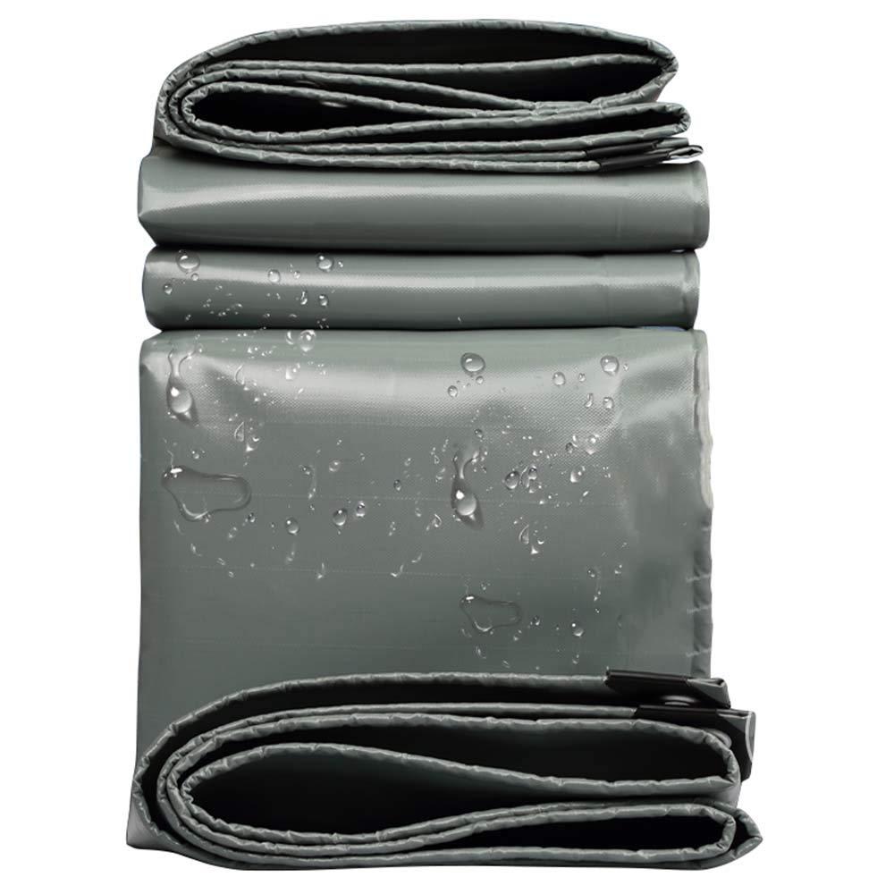 0.45 mmグレーPVC防水防雨布屋外ガーデン絶縁防水シートトラック防塵防水シート550 g/平方メートル 5*10m  B07R1M5GVC