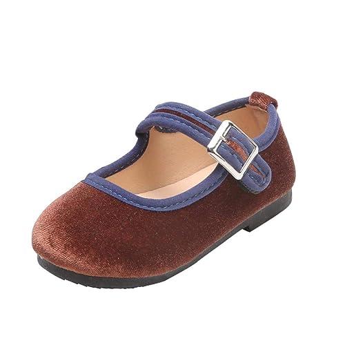 f1f0dcaf Zapatos de Terciopelo para Unisex Niñas Niños Otoño 2018 Moda PAOLIAN  Zapatos de Vestir Boda Merceditas Casual Calzado Invierno Chica Suela  Blanda Regalo de ...