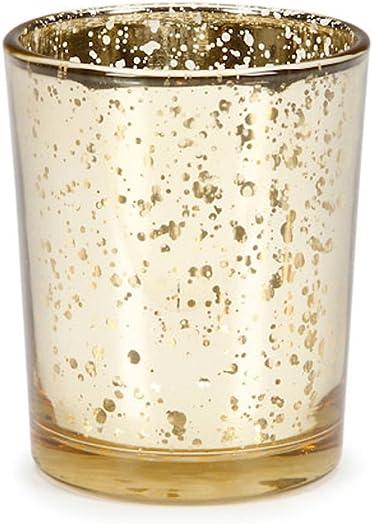 96 Gold Mercury Tutera Wedding Party Candle Votive Holder