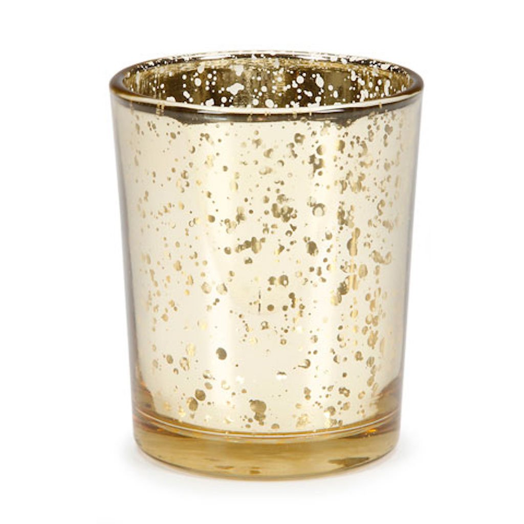 David Tutera Wedding Party Candle Votive Holders Pink Gold Burlap Silver (72, Gold Mercury)