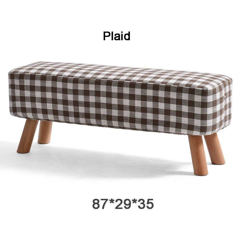 Stripe 872935cm XRXY Footstool, Foyer Change shoes Bench, Clothing Store Footstool, Cloth Sofa Stool, for Living Room,Bedroom (color   Matcha, Size   57  29  28 cm)