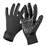 #8: AIRGOOD Pet Grooming Gloves, Ideal for Dogs & Cats on Long & Short Fur(Black)