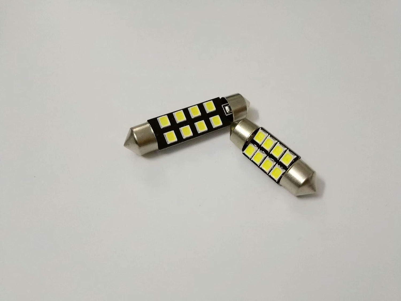 LINSUNG 31mm Promise Double Pointer Light 8 Light Car LED Lumi/ère de Lecture De Voiture Int/érieur Top Light Refit