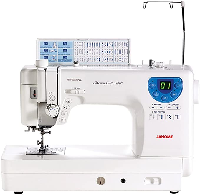 Janome MC-6300P máquina de coser profesional de alta resistencia ...